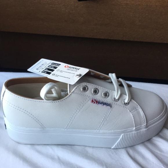 Nappaleaw White Superga Leather